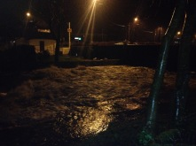 The river raging