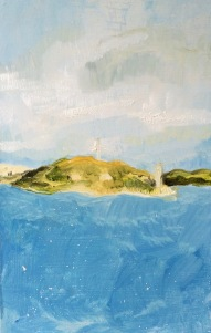 Georges Island, oil on board, 27x21cm, 2016