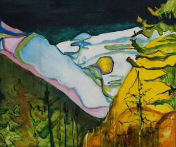 Lake Louise, oil on canvas, 150x180cm, 2014